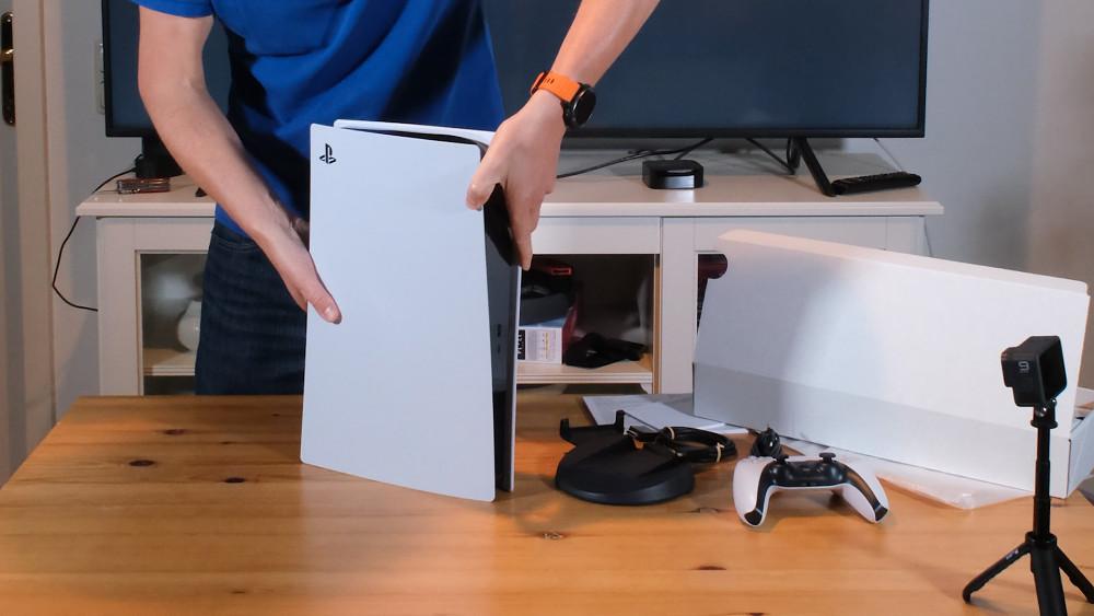 Playstation 5 ausgepackt