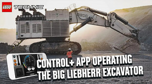 Liebherr Bagger R 9800 mit LEGO App steuern