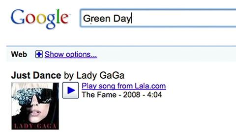 Google-Musik-Suche
