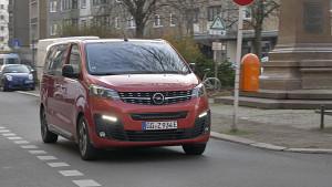Opel Zafira-e Life Probe gefahren