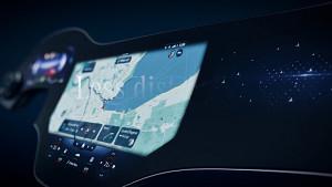 MBUX Hyperscreen im neuen Mercedes EQS