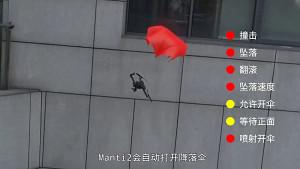 Fallschirm für Drohnen (Herstellervideo)