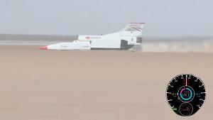 Rekordfahrzeug Bloodhound LSR schafft 1.010 kmh