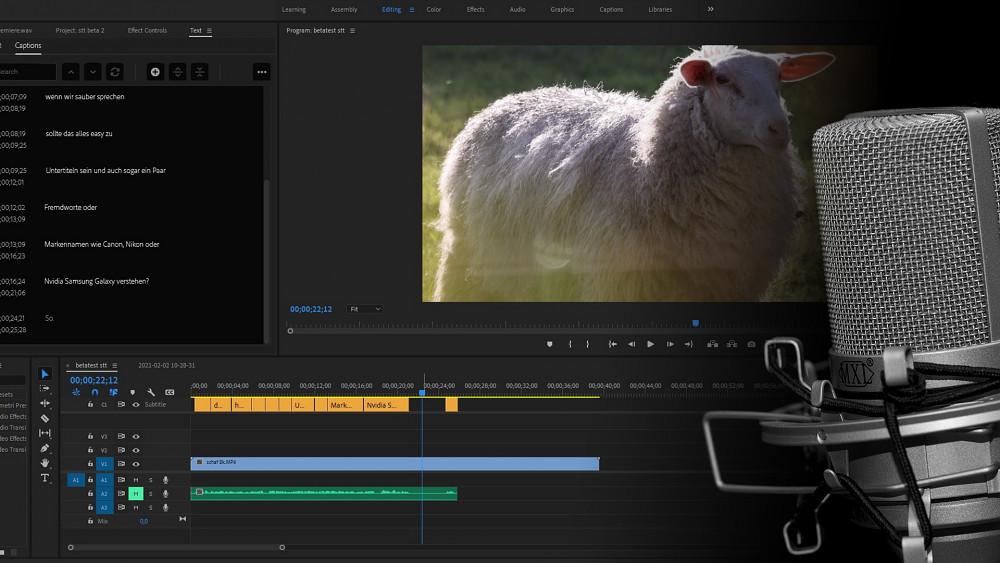Automatische Untertitel in Premiere Pro Beta - Tutorial