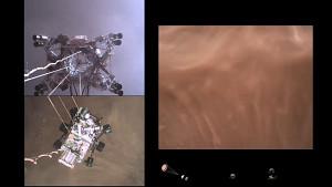 Der Perseverance Rover landet auf dem Mars (Nasa)