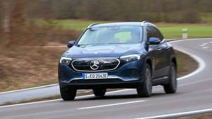 Mercedes EQA Probe gefahren