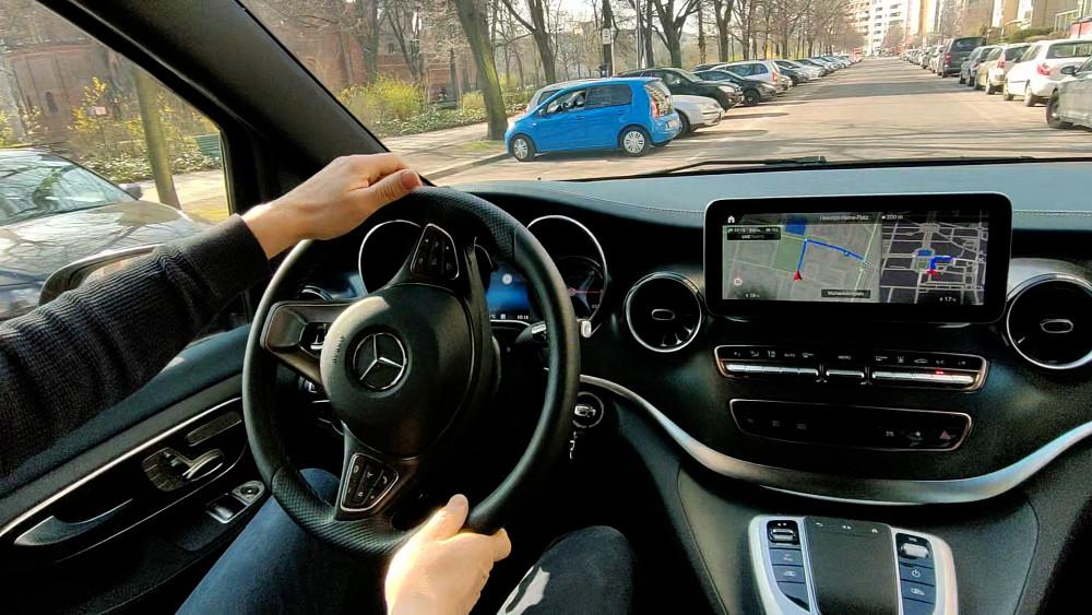 Mercedes EQV Probe gefahren
