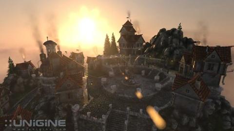 Unigine Heaven als Demo für DirectX-11-Effekte