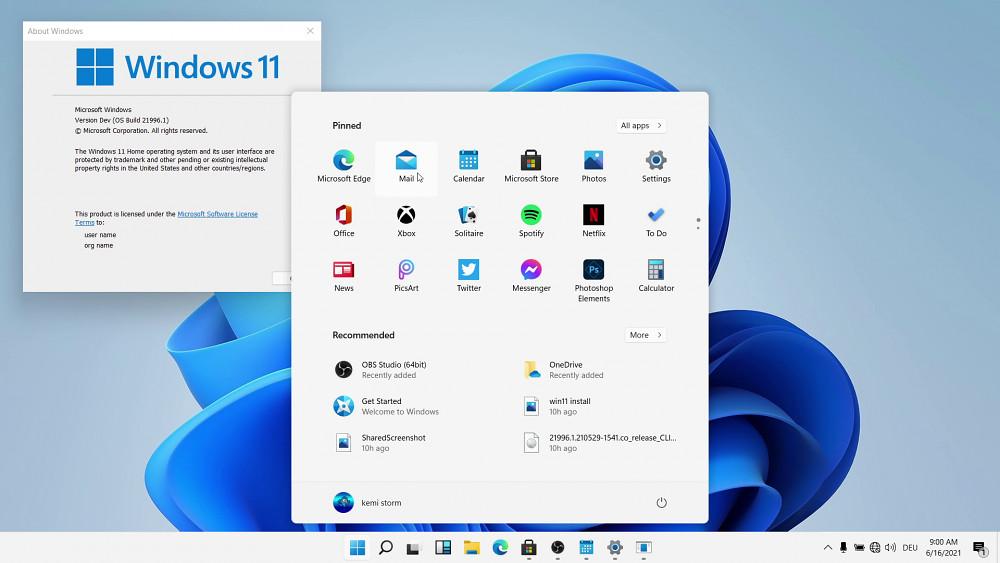 Windows 11 - Startmenü und Grundfunktionen
