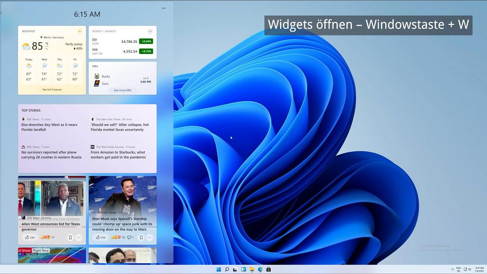 Windows 11 - neue Tastenkürzel probiert