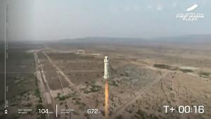 New Shepard Erstflug mit Jeff Bezos