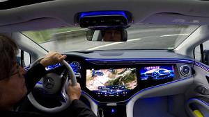 Mercedes EQS Probe gefahren