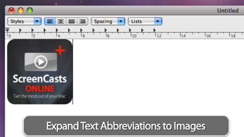 Textexpander für Mac OS X - systemweite Texte und Bilder auf Abruf