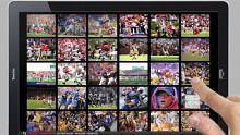 Demonstration Sports Illustrated auf einem Tablet
