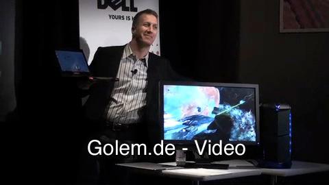 Vorstellung des Alienware M11x auf der CES 2010 im Rahmen der Pressekonferenz von Dell