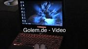 Erste Eindrücke des Alienware M11x auf der CES 2010 (Umschaltung der Grafikchips)