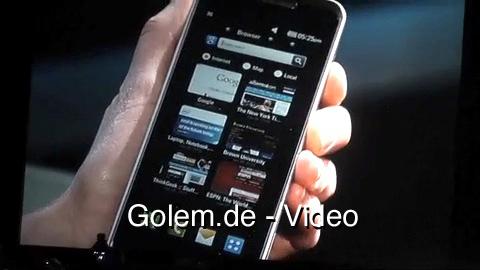 LG GW990 - Smartphone mit Wimax und Atom auf der CES-2010-Keynote von Intel