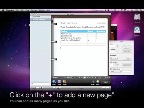 Thoughts, das Notizbuch für den Mac - Demo