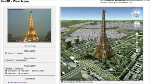 Live 3D - Bilder von Webcams in Google Earth