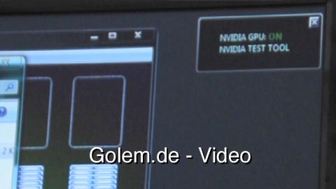 Nvidia-Optimus-Demonstration - Wechsel zwischen integrierter und diskreter Grafik