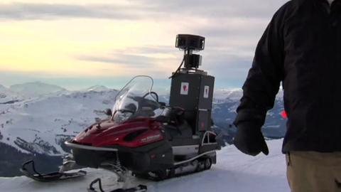 Vorstellung Google-Street-View-Schneemobil
