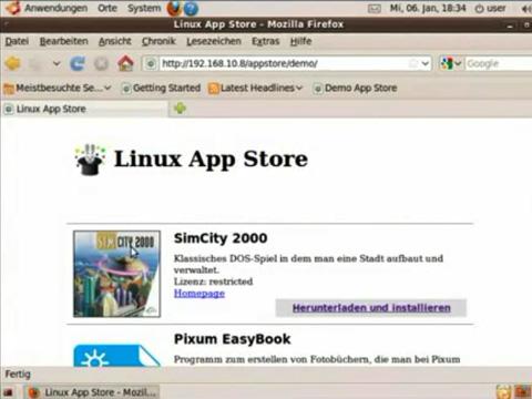 App Store für Linux - Personal Application Installler - Demo