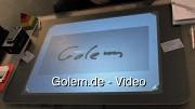 Finanzberatung der Sparkasse mit Microsoft Surface auf der Cebit 2010