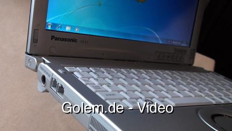 Ausprobiert - Panasonic Toughbook CF-C1 auf der Cebit 2010