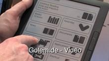 Ausprobiert - E-Book-Reader Asus DR-900 auf der Cebit 2010