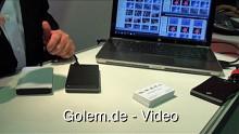 USB-3.0-Demonstration von Jeff Ravencraft auf der Cebit 2010