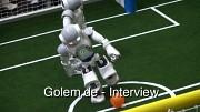 Roboter-Kicker in Aktion auf der Cebit 2010
