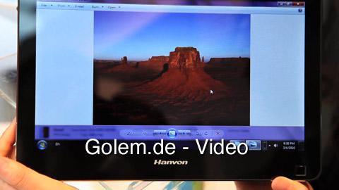 Touchpad Tablet von Hanvon auf der Cebit 2010