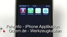 Golem.de - Werkzeugkasten - Fahrinfo Berlin, Dresden, Nürnberg, Stuttgart - iPhone Applikation