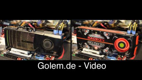 Lautstärkevergleich Geforce GTX 480 vs. Radeon 5870