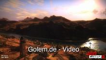 Just Cause 2 Benchmark - Sonnenaufgang in der Wüste mit maximalen Grafikeinstellungen (Radeon 5850)