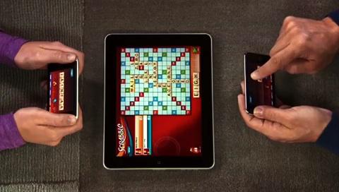Scrabble auf dem iPad (Steuerung mit iPhone und iPod touch)