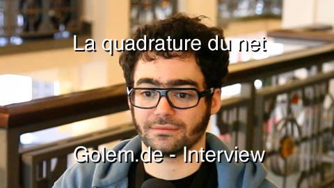 Interview mit Jérémie Zimmermann von La quadrature du net auf der republica 2010