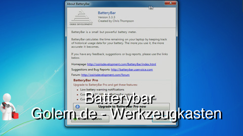 Golem.de - Werkzeugkasten - Batterybar