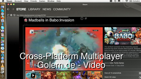 Cross-Platform Multiplayer mit Steam für Mac (Madballs in Babo)