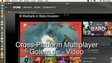 Cross-Platform Multiplayer mit Steam für Mac (Madballs in Babo)