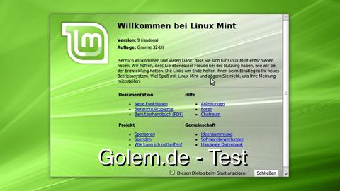 Linux Mint 9 alias Isadora - Test