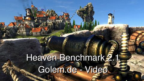 Unigine Heaven Benchmark 2.1 - Radeon 5800 mit aktiviertem DirectX 11
