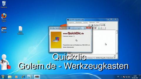 Golem.de - Werkzeugkasten - Quickdic