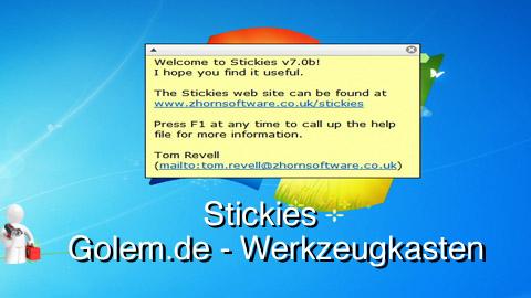 Golem.de - Werkzeugkasten - Stickies