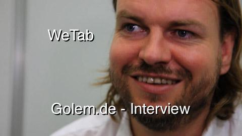 Helmut Hoffer von Ankershoffen im Interview zum WeTab auf dem Linuxtag 2010 Berlin