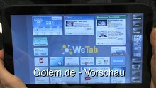 WeTab - erster Eindruck und kurze Demonstration auf dem Linuxtag 2010