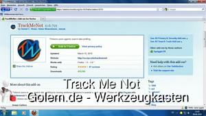 Golem.de - Werkzeugkasten - Track Me Not