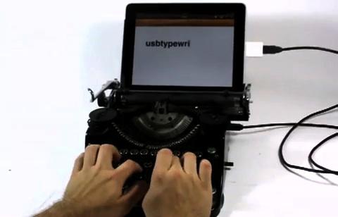 USB-Schreibmaschine für das iPad