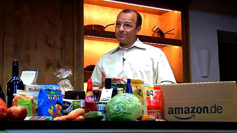 Amazon verkauft Lebensmittel - Demonstration