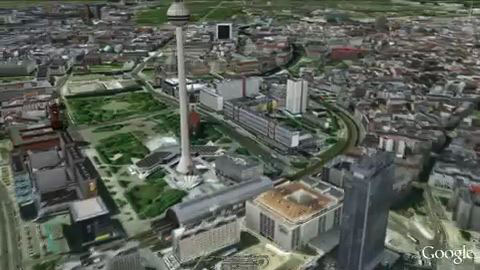 Berlin und Stuttgart in 3D mit Google Earth